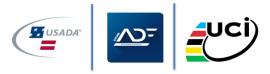 CADF USADA UCI logos